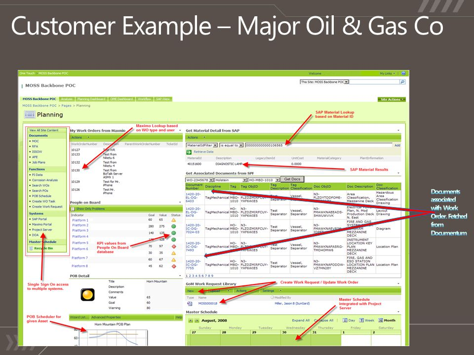 Customer Example – Major Oil & Gas Co