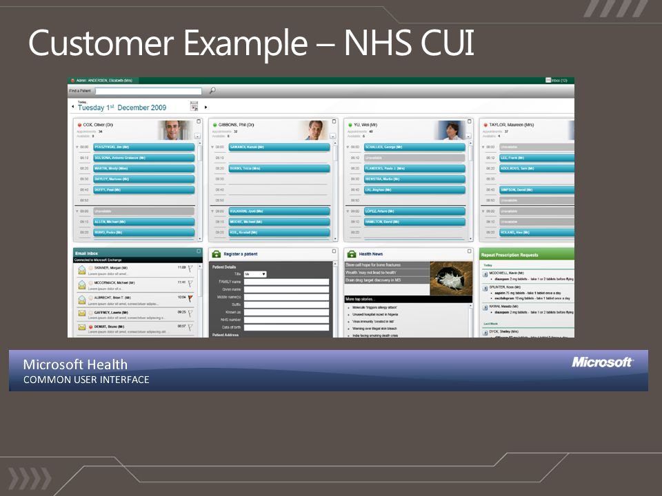 Customer Example – NHS CUI