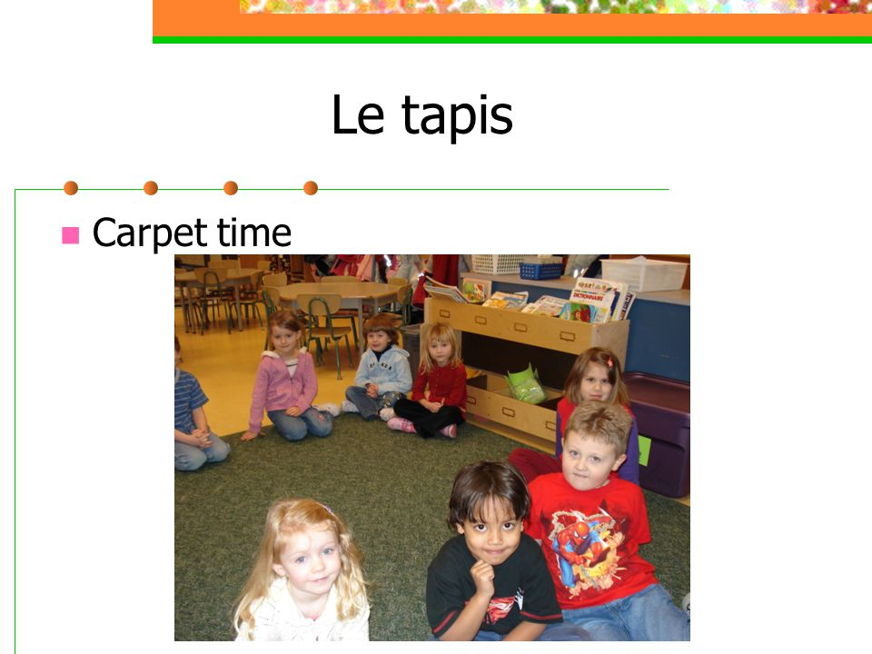 Le tapis Carpet time