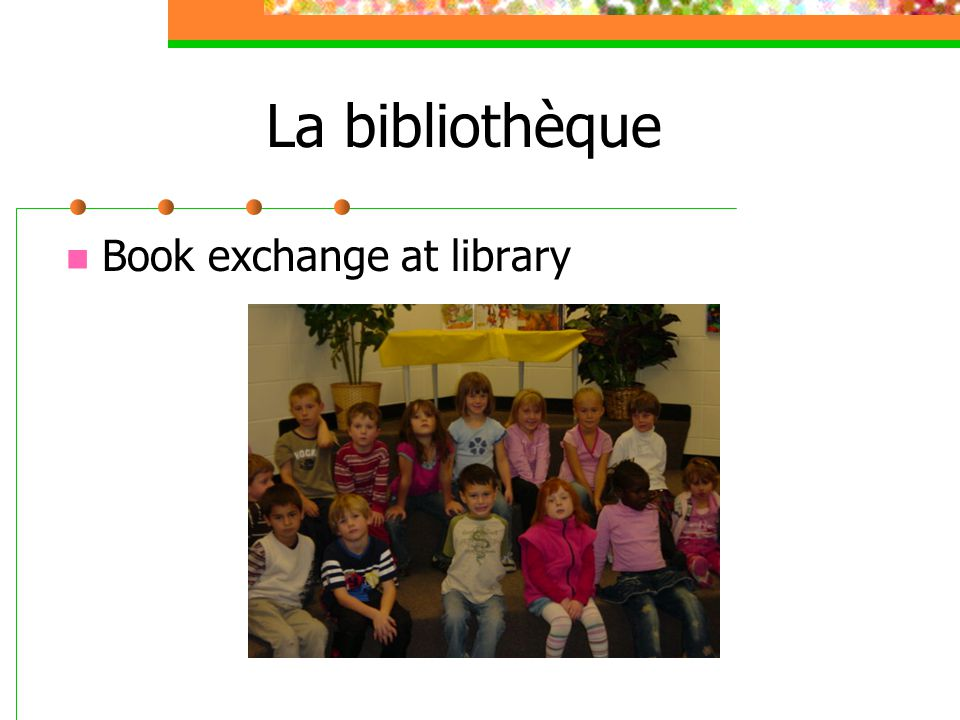 La bibliothèque Book exchange at library