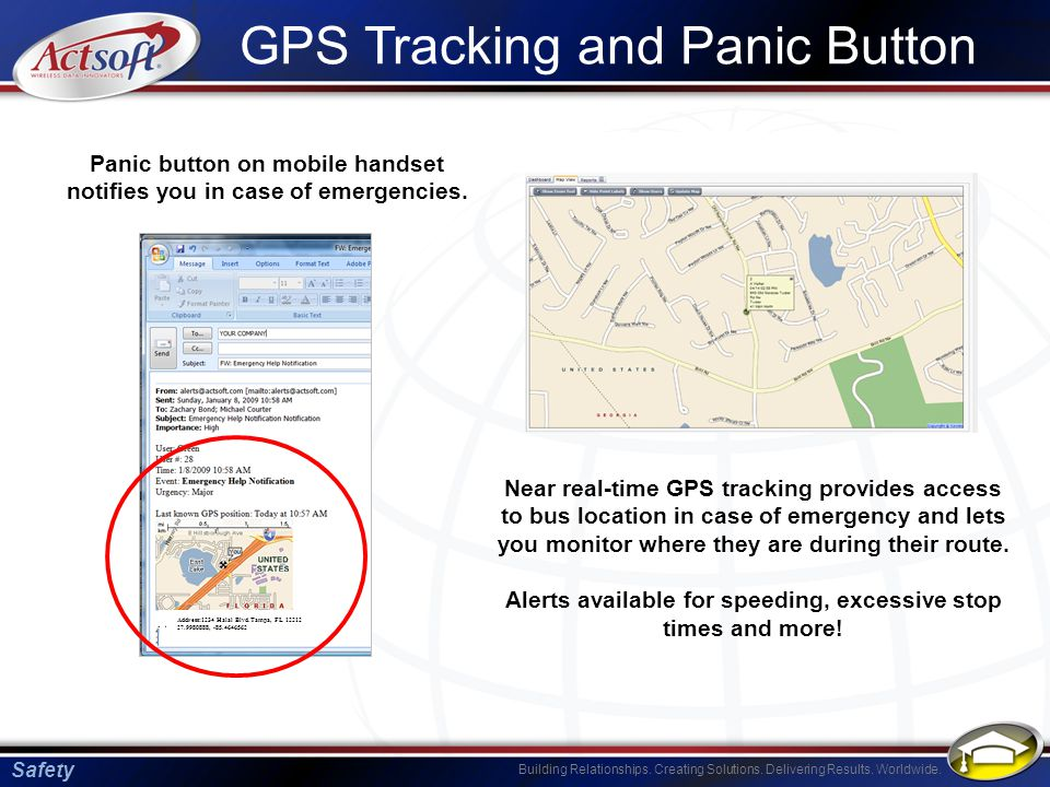 GPS Tracking and Panic Button