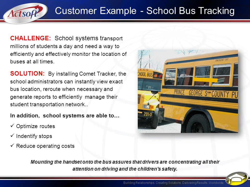 Customer Example - School Bus Tracking