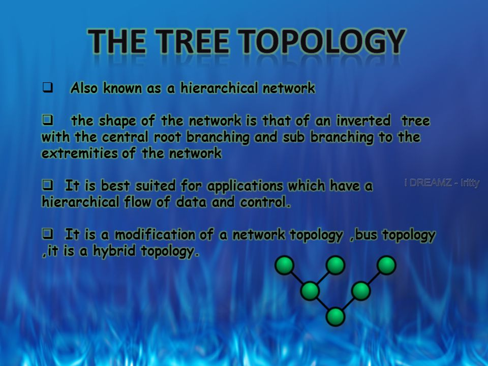 THE TREE TOPOLOGY Also known as a hierarchical network