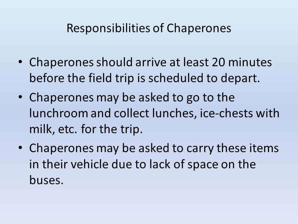Responsibilities of Chaperones