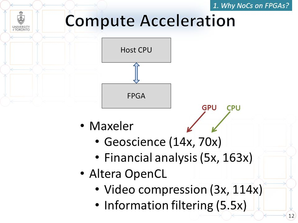 Compute Acceleration Maxeler Geoscience (14x, 70x)
