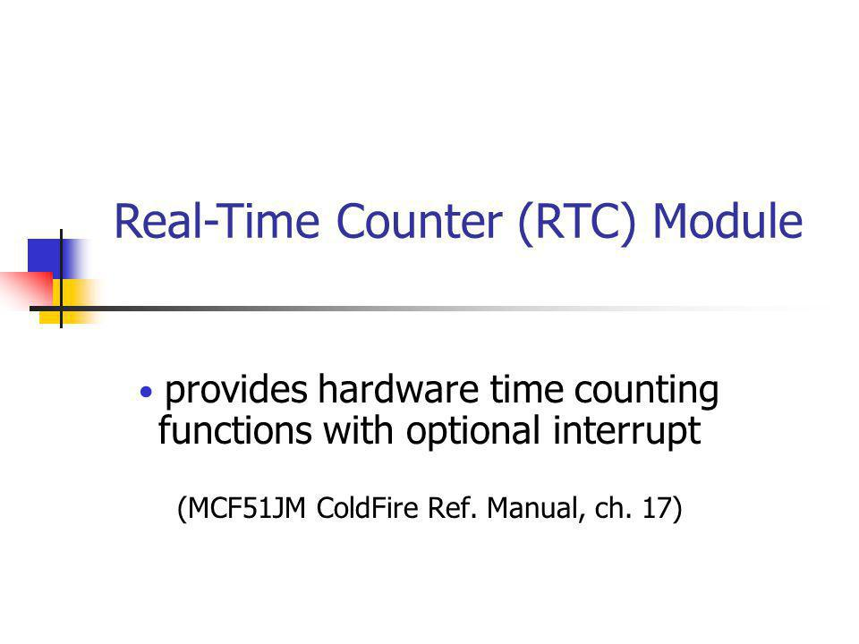 Real-Time Counter (RTC) Module