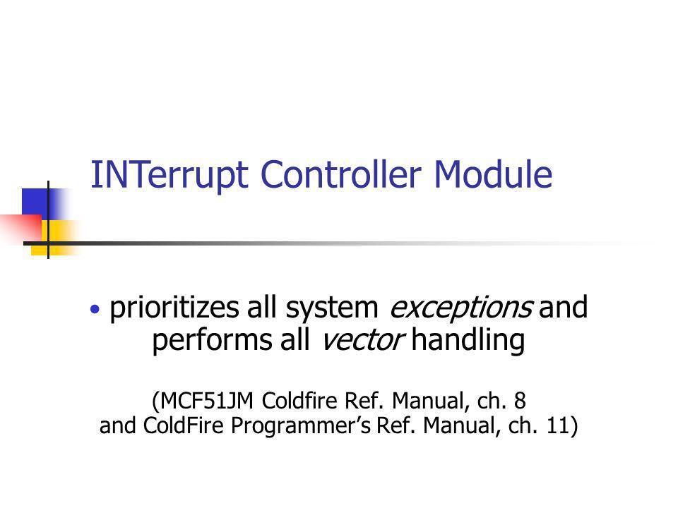 INTerrupt Controller Module