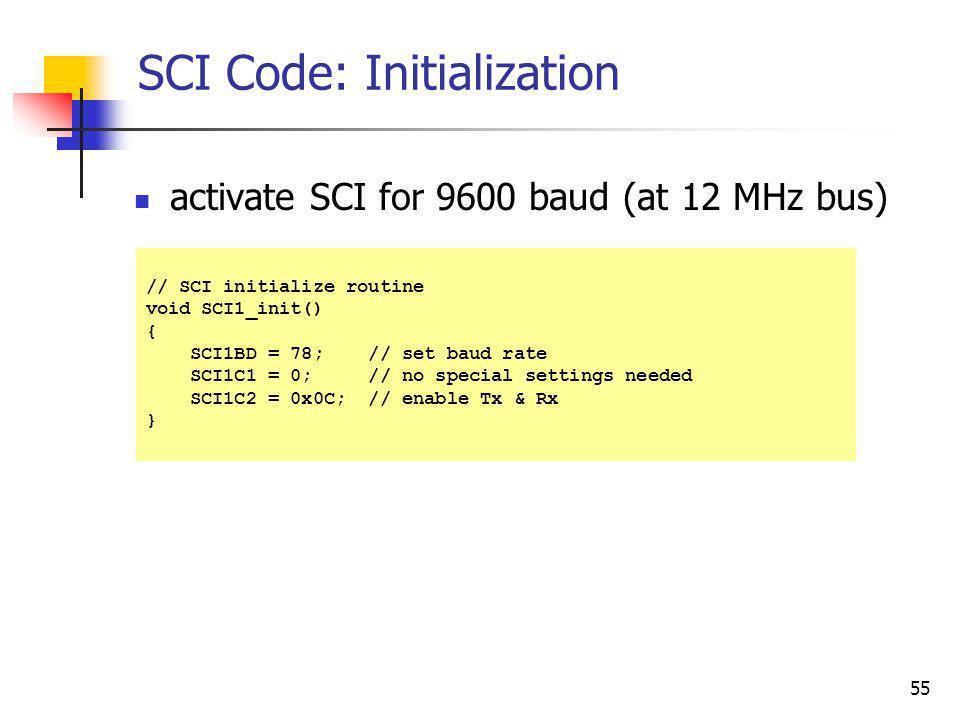 SCI Code: Initialization