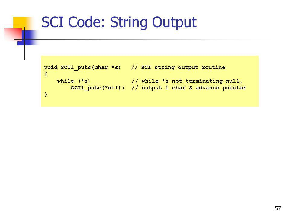 SCI Code: String Output