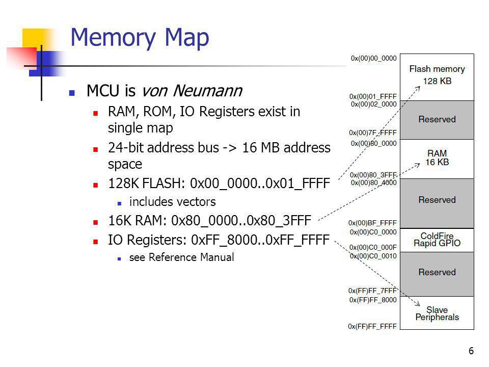 Memory Map MCU is von Neumann
