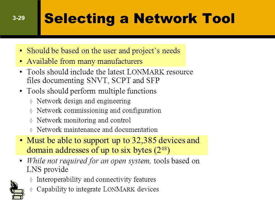 Selecting a Network Tool