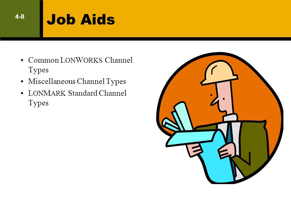 Job Aids Common LONWORKS Channel Types Miscellaneous Channel Types