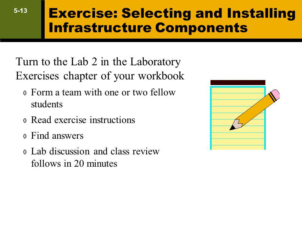 Exercise: Selecting and Installing Infrastructure Components
