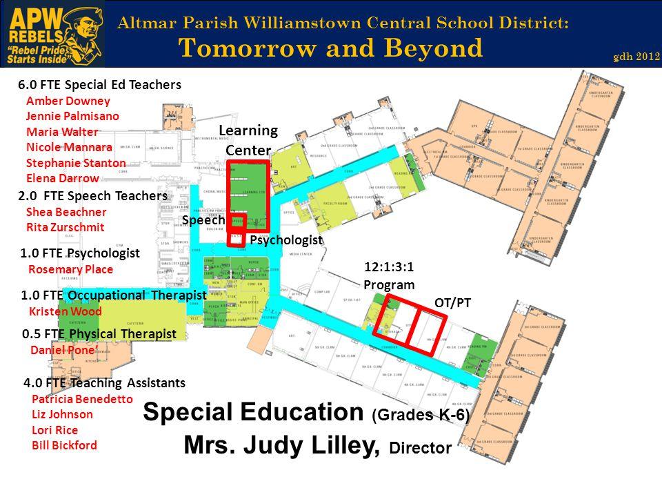Special Education (Grades K-6) Mrs. Judy Lilley, Director
