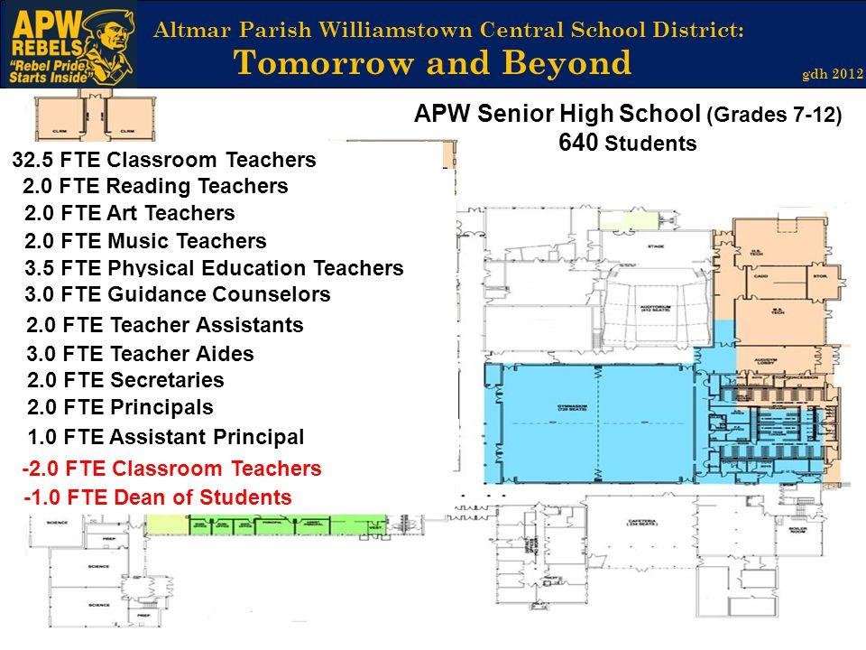 APW Senior High School (Grades 7-12) 640 Students