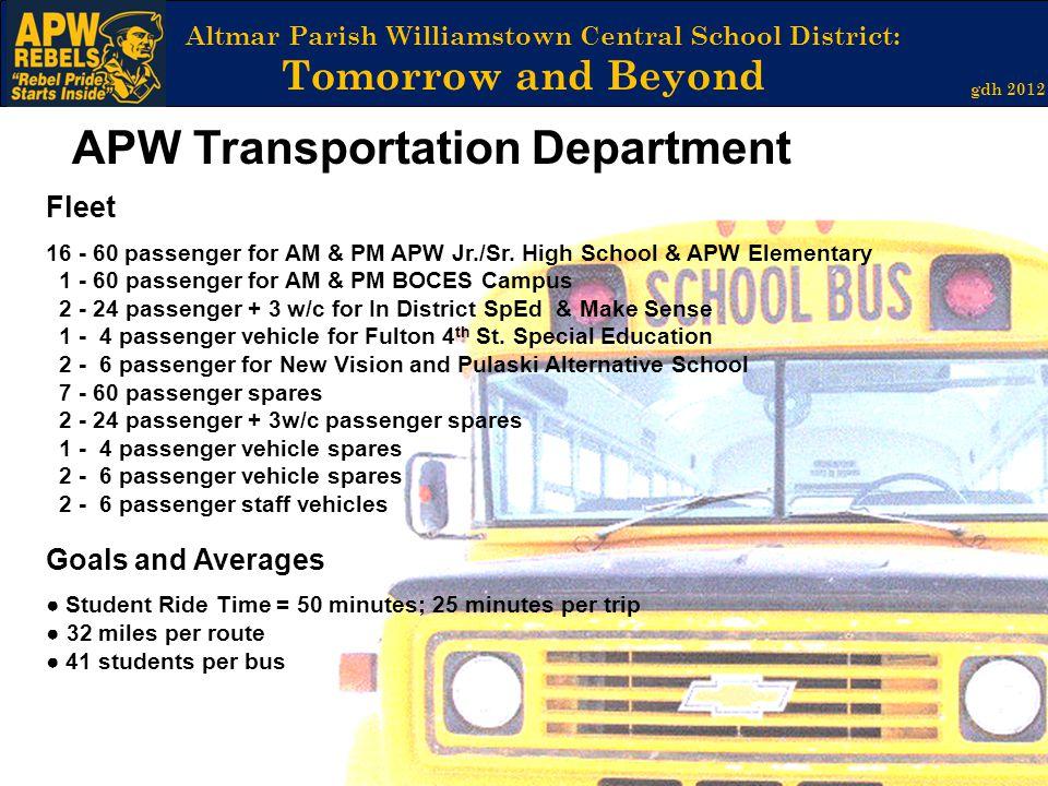 APW Transportation Department
