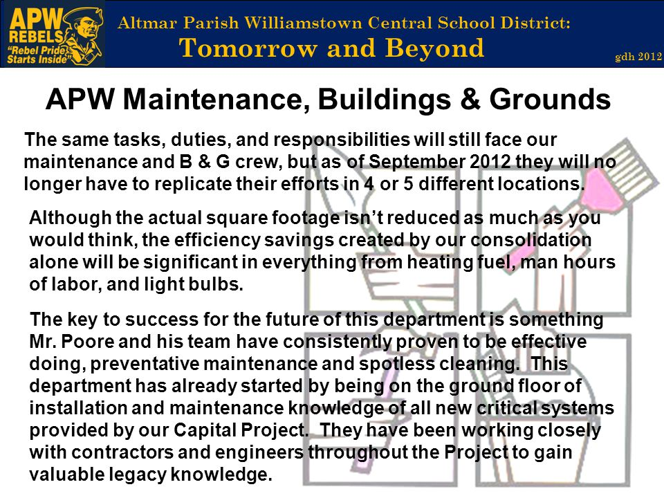 APW Maintenance, Buildings & Grounds