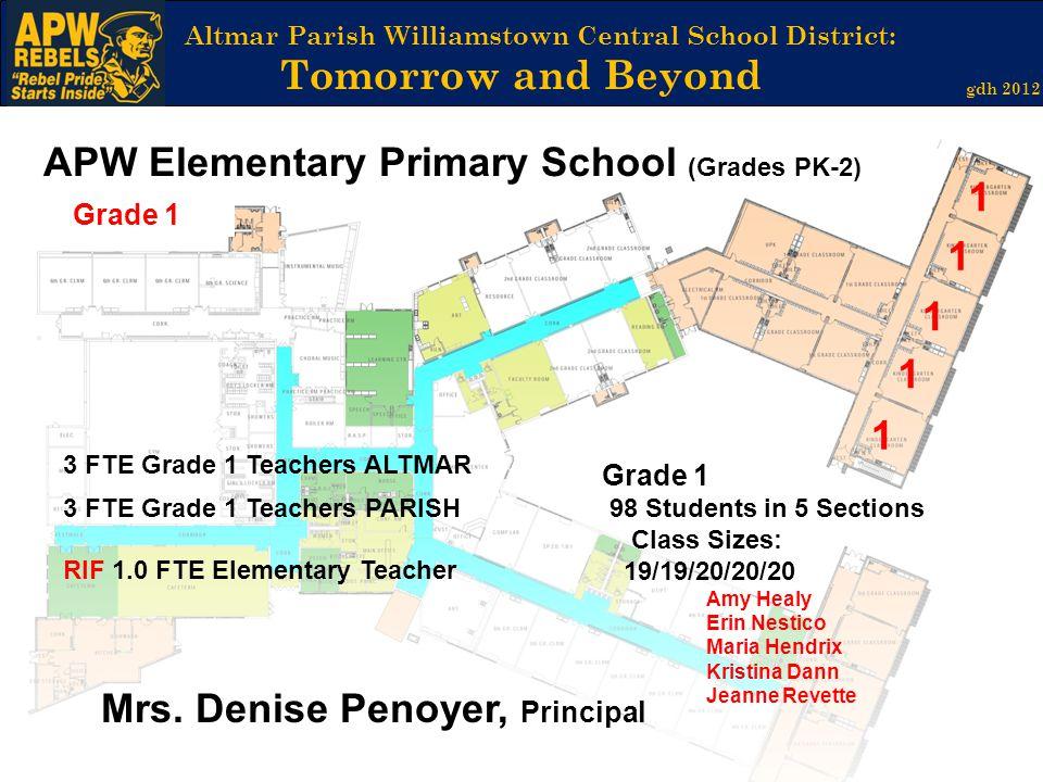 APW Elementary Primary School (Grades PK-2) 1 1 1 1