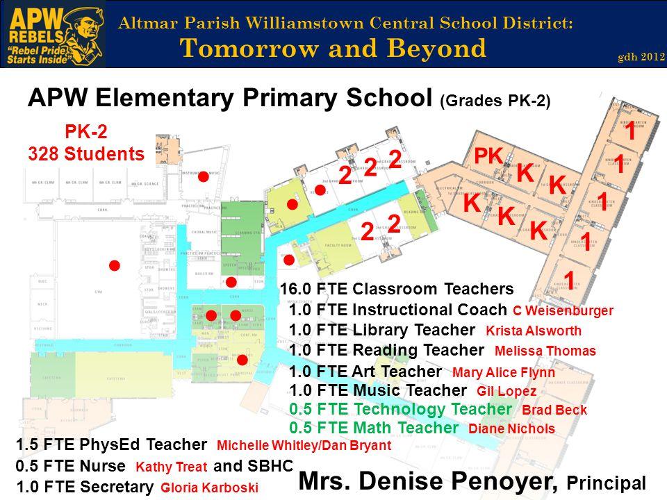 APW Elementary Primary School (Grades PK-2) 1 2 2 1 ● 2 K ● K ● K 1 K