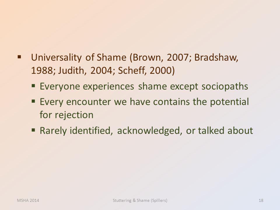 Stuttering & Shame (Spillers)