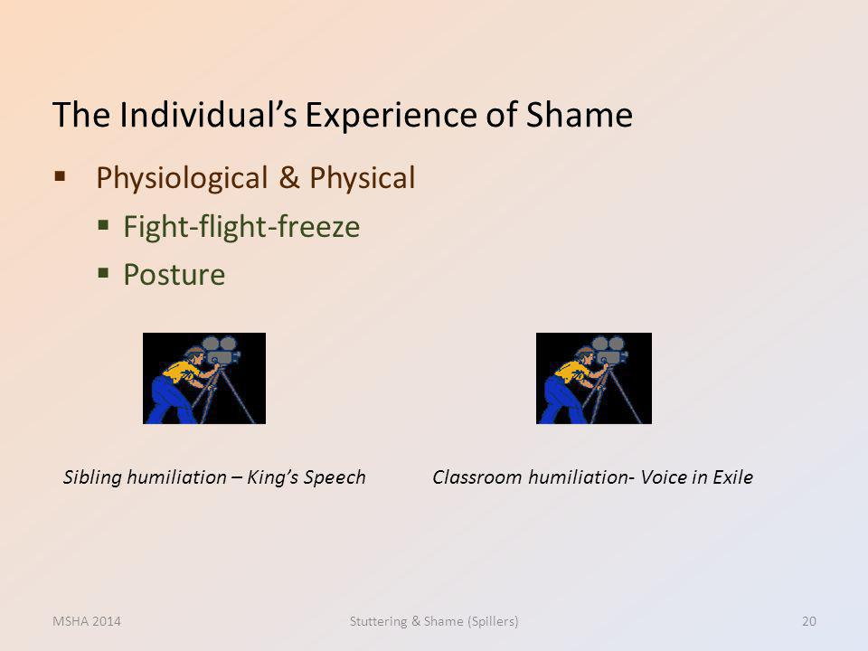 The Individual's Experience of Shame