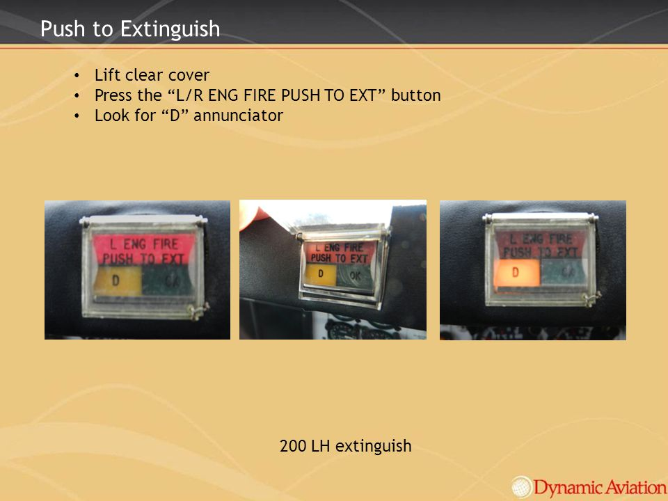 Push to Extinguish Lift clear cover