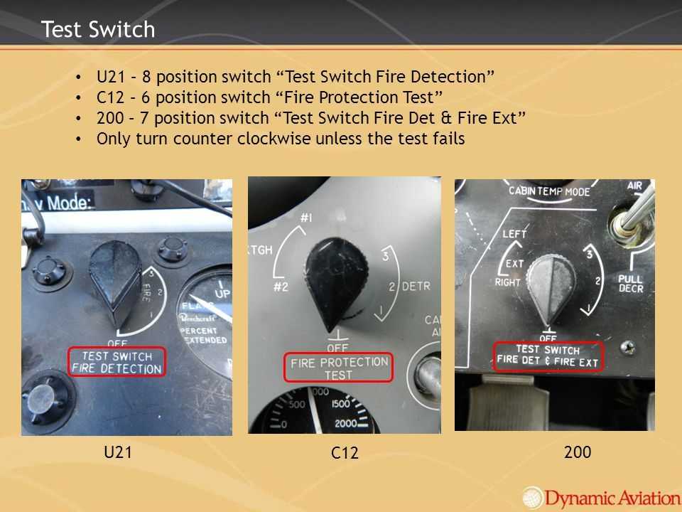 Test Switch U21 – 8 position switch Test Switch Fire Detection