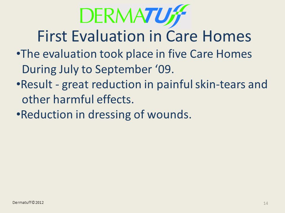 First Evaluation in Care Homes