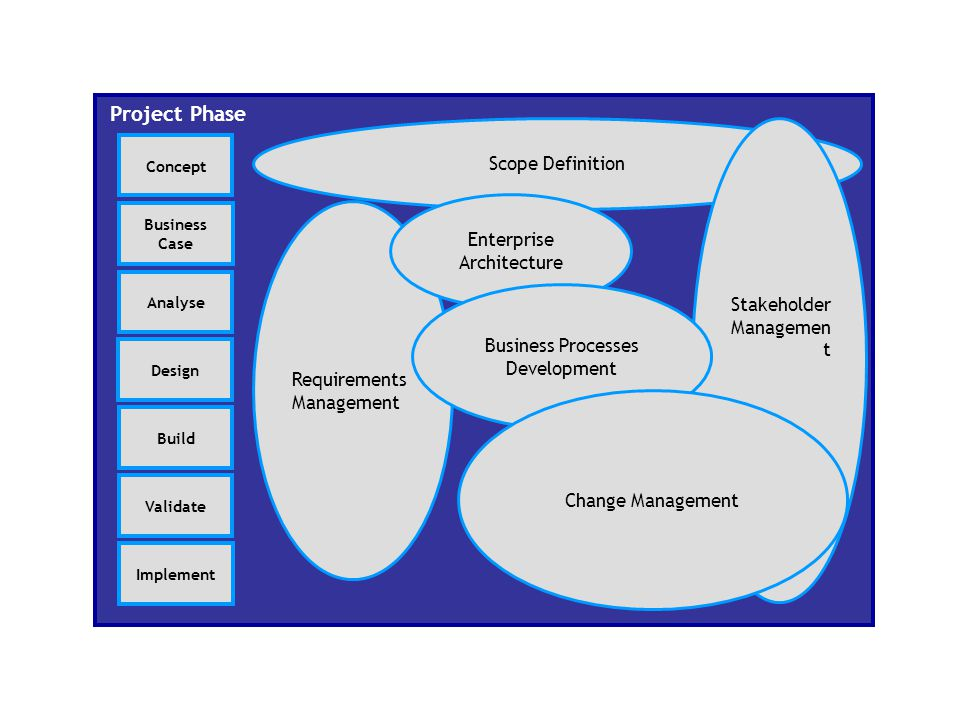 Project Phase Scope Definition Stakeholder Enterprise Architecture