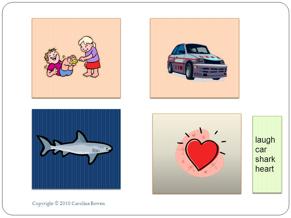 laugh car shark heart Copyright © 2010 Caroline Bowen