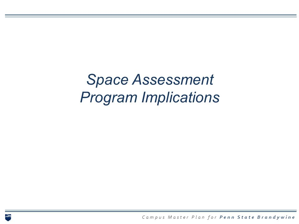 Space Assessment Program Implications