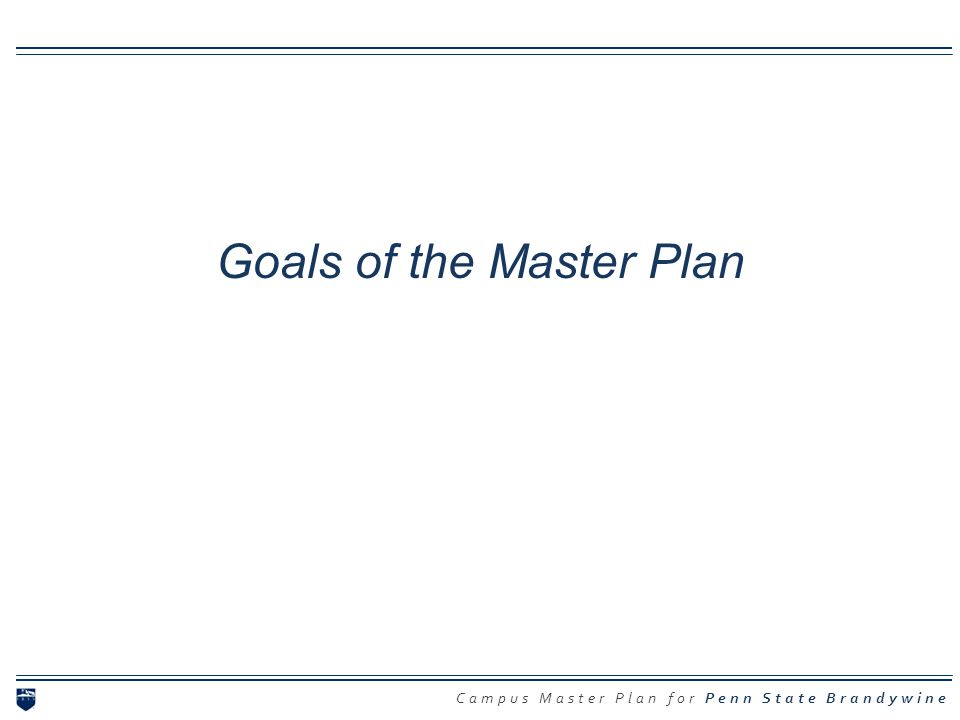 Goals of the Master Plan