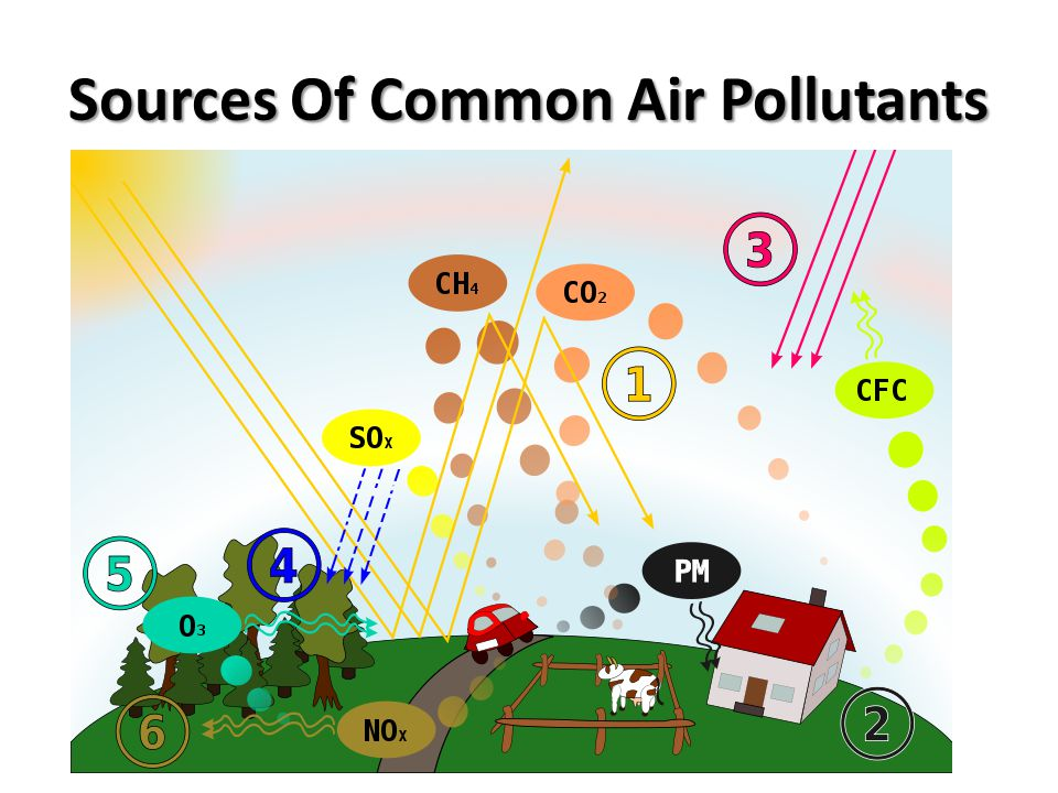Sources Of Common Air Pollutants