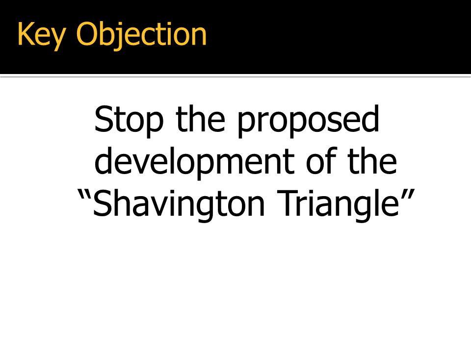 Stop the proposed development of the Shavington Triangle