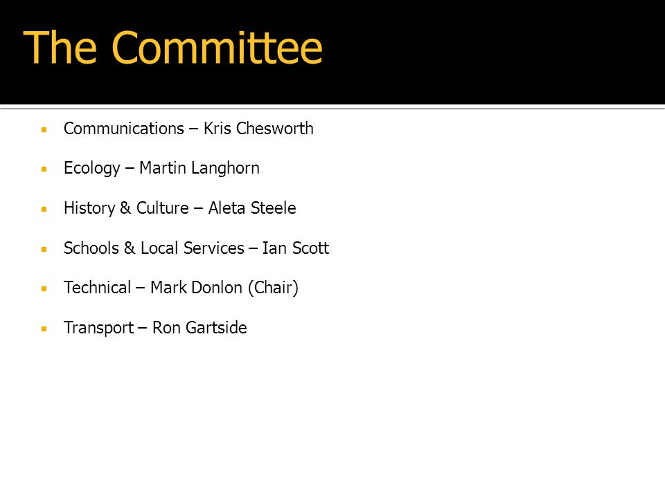 The Committee Communications – Kris Chesworth
