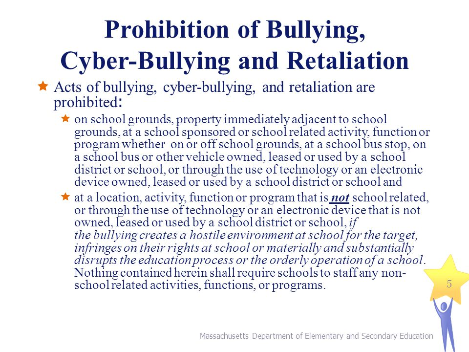 Prohibition of Bullying, Cyber-Bullying and Retaliation