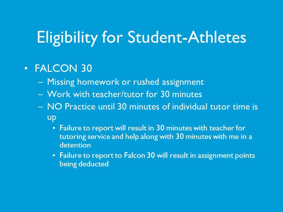 Eligibility for Student-Athletes