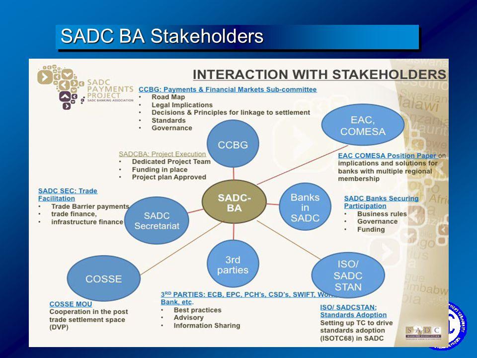SADC BA Stakeholders