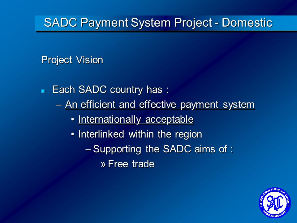 SADC Payment System Project - Domestic