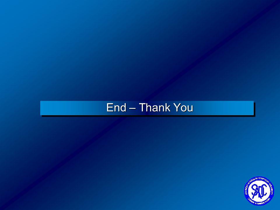 End – Thank You