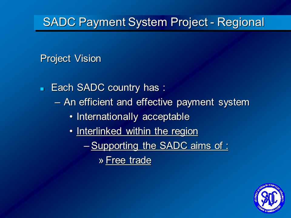 SADC Payment System Project - Regional