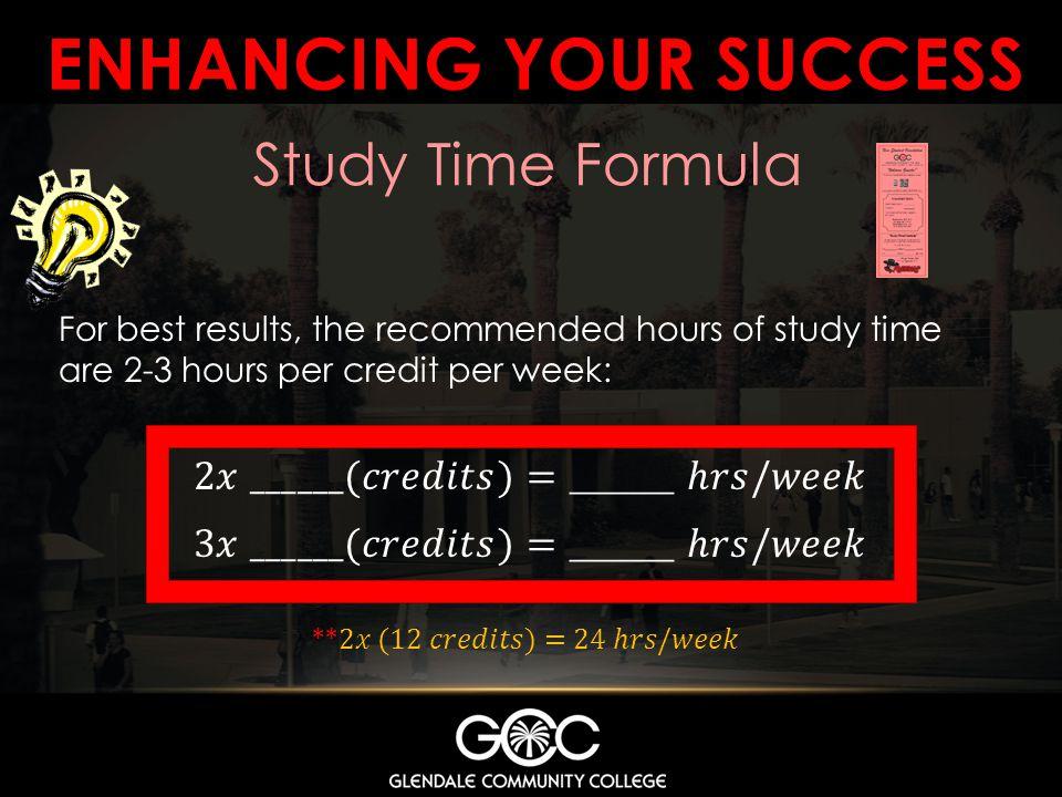 Enhancing your success