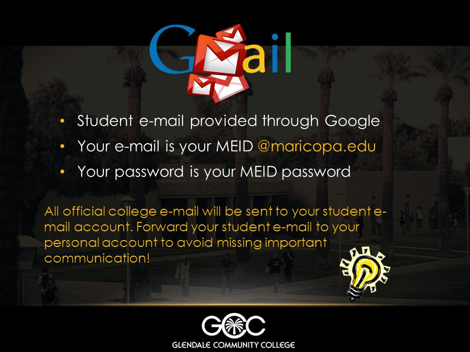 Student e-mail provided through Google