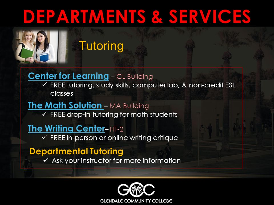 DEPARTMENTS & services