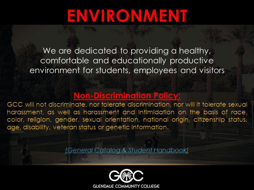 Non-Discrimination Policy: