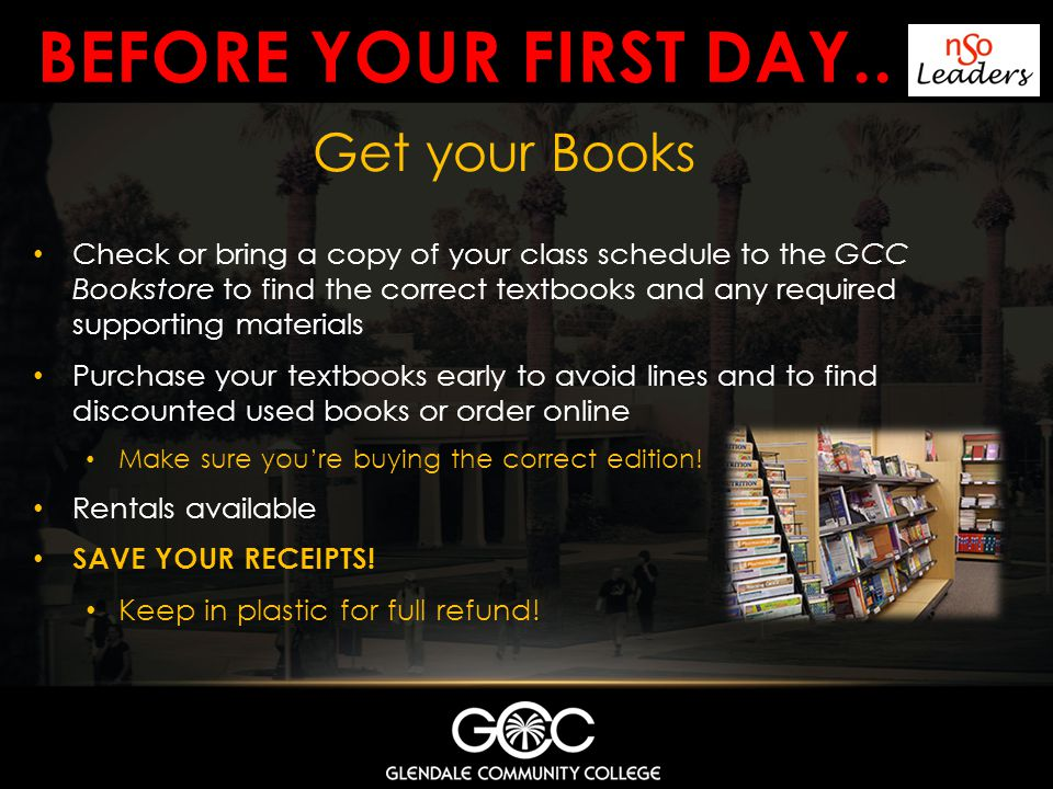 Before your first day.. Get your Books