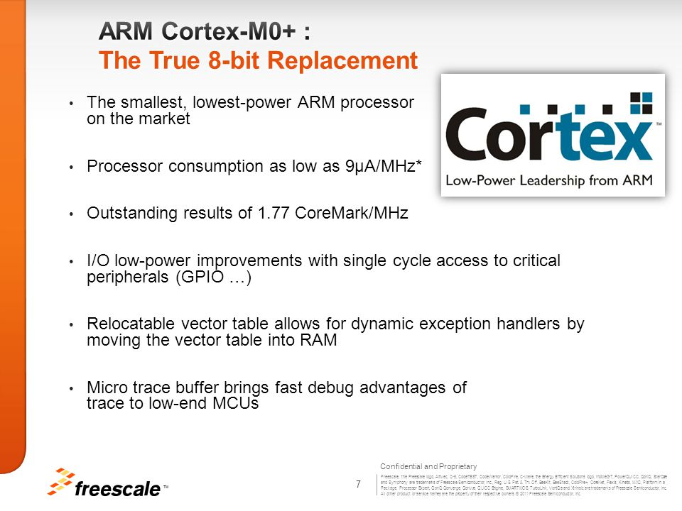 ARM Cortex-M0+ : The True 8-bit Replacement