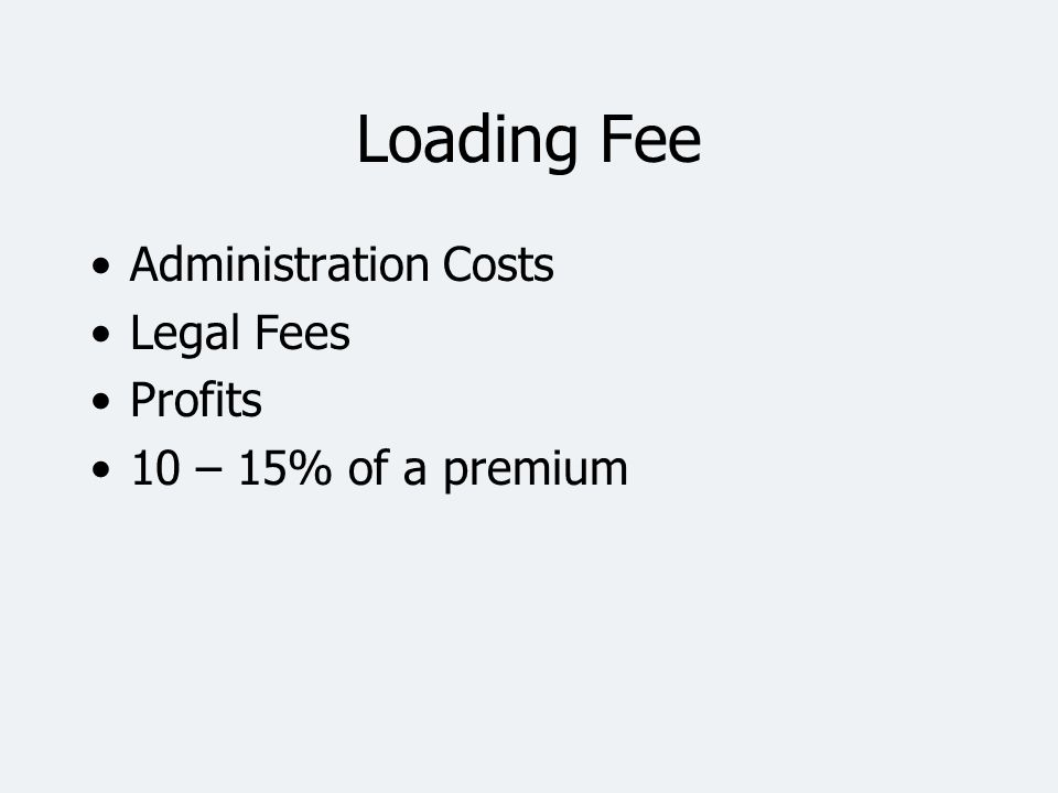 Loading Fee Administration Costs Legal Fees Profits