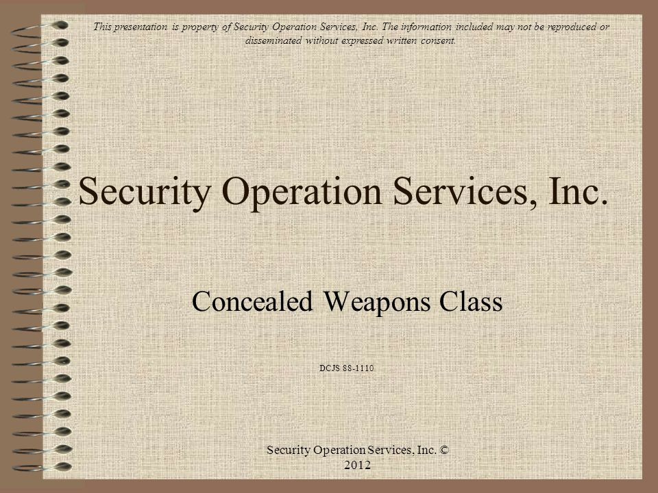 Security Operation Services, Inc.