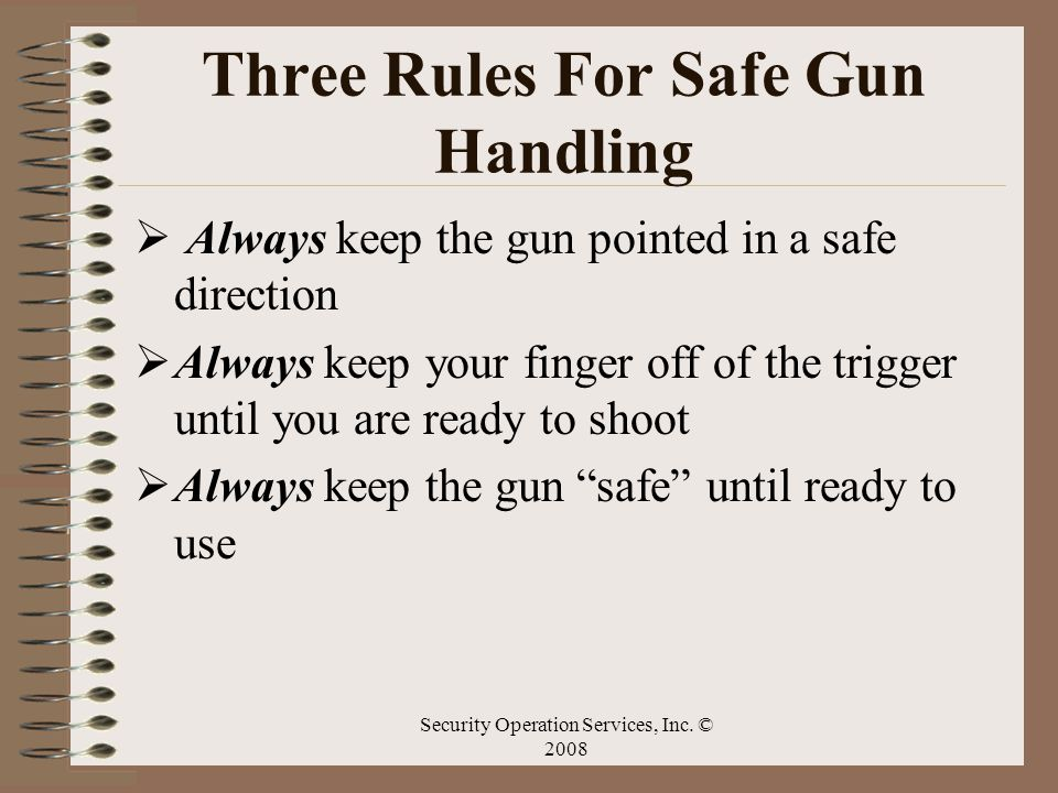 Three Rules For Safe Gun Handling